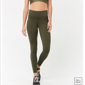 Forever 21 Olive green high waisted active legging